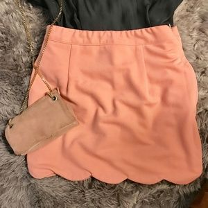 Tobi TIDAL WAVE SKIRT S BLUSH